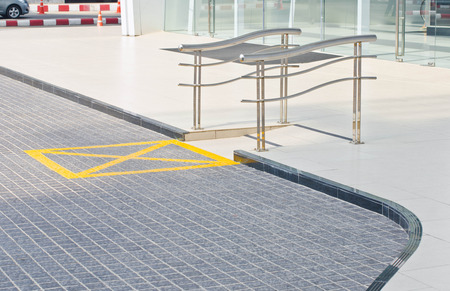 Ramp for disabled people using wheelchair of public building  photo