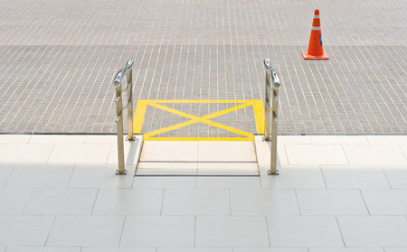 Ramp for disabled people using wheelchair of public building