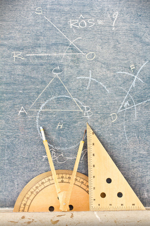 Wooden geometry tools for teachers