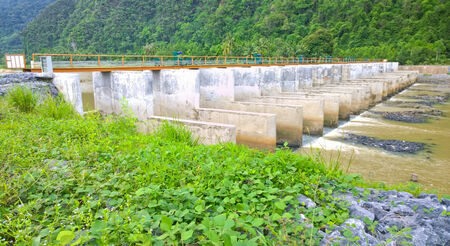 Small dam in rural areas of Southeast Asia