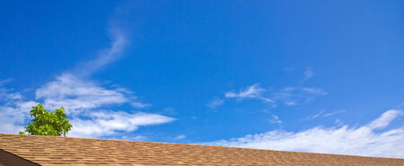 Roof with blue sky