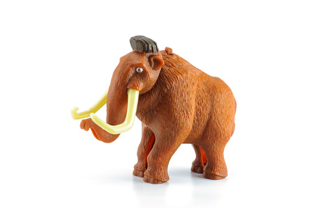 Bangkok,THAILAND - April 1, 2014: Manny is a woolly mammoth character in ice age movie. There are plastic toy sold as part of the McDonalds Happy meals. Editorial
