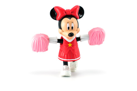 minnie mouse: Bangkok,THAILAND - April 9, 2014: Minnie mouse from Disney character. There are plastic toy sold as part of the McDonalds Happy meals.