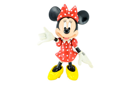 Bangkok,THAILAND - May 13, 2014 : Minnie mouse from Disney character. This character from Mickey and Minie Mouse  animation. Editorial