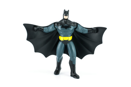 Bangkok,Thailand - May 05, 2014  DC Comic Batman figure Toy  There are plastic toy sold as part of the McDonald