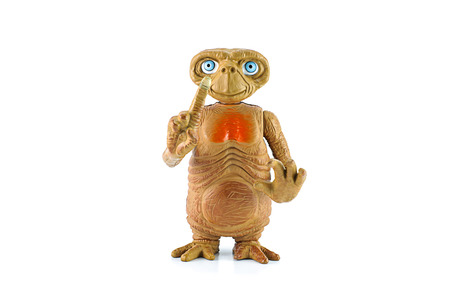 animated alien: BANGKOK, THAILAND - June 18, 2014 : ET character. This figues toy form E.T. the Extra-terrestrial film.