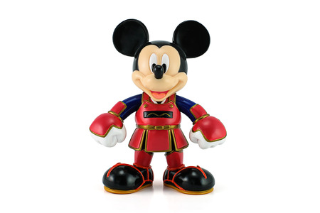 BANGKOK, THAILAND - June 18, 2014 : Mickey Mouse wear a kendo suit. This toy character form Disney Mickey Mouse animate.
