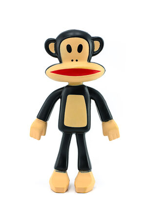 bendable: BANGKOK, THAILAND - April 20, 2014 :Toy Julius Paul Frank bendable PVC figure. There are toy sold as part of McDonald HappyMeal toy.