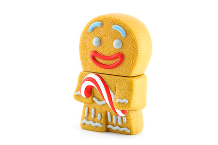 christmas movies: BANGKOK, THAILAND - June 5, 2014 : Gingerbread Man character form the Shrek movie. There are toy sold as part of McDonalds Happy meal.