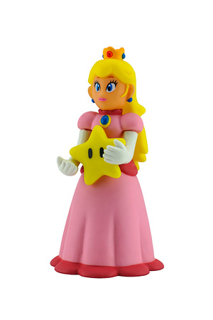 Bangkok, Thailand - August 25, 2014 : The princesses figure character from Super Mario video game console developed by Nintendo EAD.