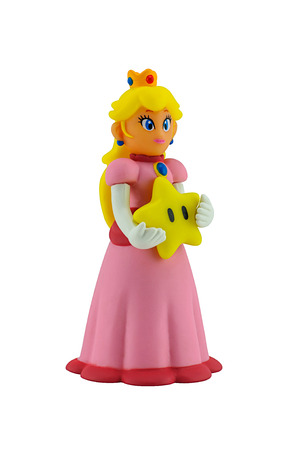 ead: Bangkok, Thailand - August 25, 2014 : The princesses figure character from Super Mario video game console developed by Nintendo EAD.