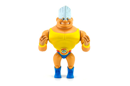 toy story: Bangkok, Thailand - July 31, 2014: Rocky Gibraltar the heavyweight wrestler character from Toy Story movie by Disneys Pixar Studio. Editorial