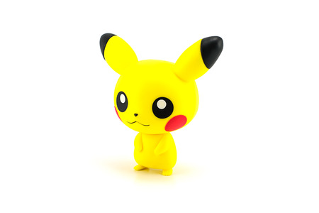japanes: Bangkok, Thailand - July 31, 2014: Pikachu figure character from the Pokemon japanes cartoon animation.