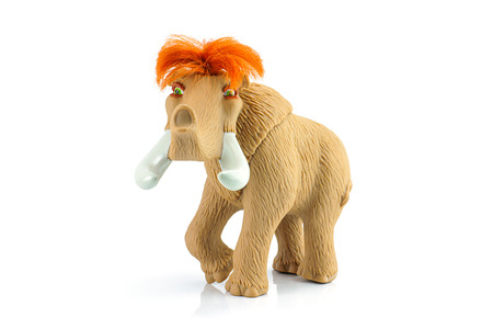 ice age: Bangkok, Thailand - July 28, 2014 : Ellie female woolly mammoth toy character form Ice Age movie. There are toy sold as part of Burger King toy.