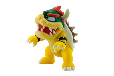 ead: Bangkok, Thailand - August 13, 2014 : King Bowser Koopa figure character from Super Mario video game console developed by Nintendo EAD. Editorial