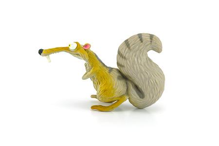 BANGKOK, THAILAND - June 3, 2014 : Scrat character form ice age amimated. Model figure  toy form ice Age films produced by Blue Sky Studio. Editorial