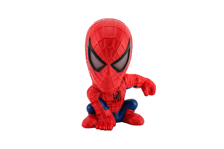 spider man: BANGKOK, THAILAND - July 11, 2014 : Spider Man toy figure model . There are toy sold as part of Burger King toy.