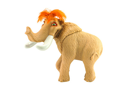 ice age: BANGKOK, THAILAND - July 28, 2014 : Ellie female woolly mammoth toy character form Ice Age movie. There are toy sold as part of Burger King toy. Editorial
