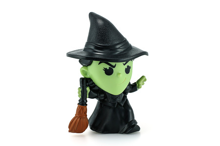oz: Bangkok, Thailand - December 12, 2014: Wicked Witch Of The West action figure from Wizard Of Oz movie. There are plastic toy sold as part of the McDonalds Happy Meal toys.