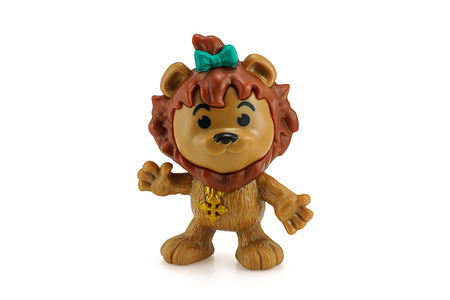 cowardly: Bangkok, Thailand - December 12, 2014: Cowardly lion ction figure from Wizard Of Oz movie. There are plastic toy sold as part of the McDonalds Happy Meal toys. Editorial