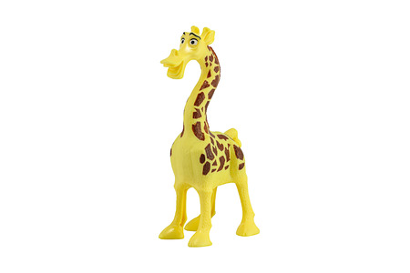 Bangkok,Thailand - September 13, 2014: Melman giraffe main toy character form madaguscar film. There are plastic toy sold as part of the McDonalds Happy meals.