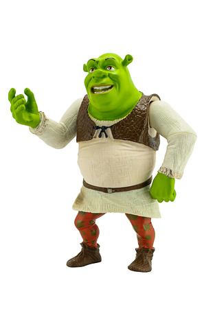 Bangkok,Thailand - October 19, 2014: Shrek figure toy character form The Sherk American computer animated fantasy comedy film produced by DreamWorks.
