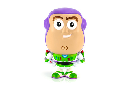 toy story: Bangkok,Thailand - October 27, 2014: Buzz lightyear figure model toy character form Toy Story animationy by Disney Pixar studio. Editorial