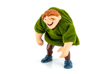 disney: Bangkok,Thailand - October 30, 2014: Quasimodo toy model character from Hunchback of notre Dame american animated misical dramafilm.