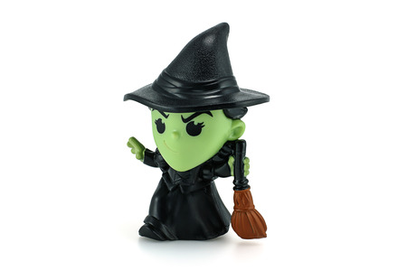 wicked: Bangkok, Thailand - December 12, 2014: Wicked Witch Of The West action figure from Wizard Of Oz movie. There are plastic toy sold as part of the McDonalds Happy Meal toys.