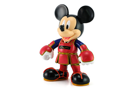 animate: BANGKOK, THAILAND - June 18, 2014 : Mickey Mouse wear a kendo suit. This toy character form Disney Mickey Mouse animate.
