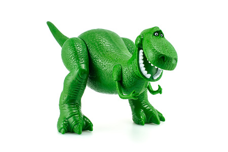 disney: Bangkok, Thailand - December 12, 2014: Rex the green dinosaur toy character from Toy Story animation films by Disney Pixar studio.