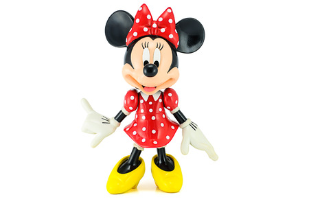 Bangkok,THAILAND - May 13, 2014 : Minnie mouse from Disney character. This character from Mickey and Minie Mouse  animation. Redactioneel