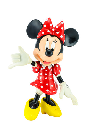 Bangkok,Thailand - May 13, 2014 : Minnie mouse from Disney character. This character from Mickey and Minnie Mouse  animation.