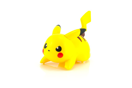 Bangkok,Thailand - October 11, 2014: Pikachu figure character from the Pokemon japanes cartoon animation.