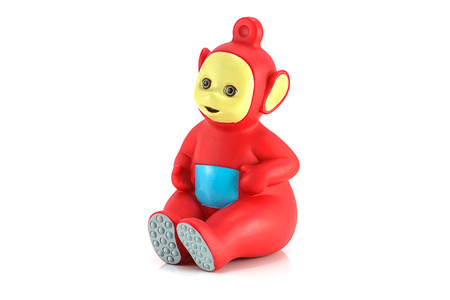 animation teenagers: Bangkok,Thailand - October 27, 2014: Po the red alian Teletubby character from Teletubbies a British BBC childrens television series. Editorial