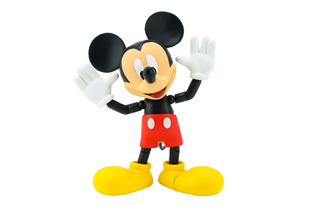 mouse: Bangkok,Thailand - January 5, 2015: Mickey  mouse action figure from Disney character. This character from Mickey mouse and friend animation series. Editorial