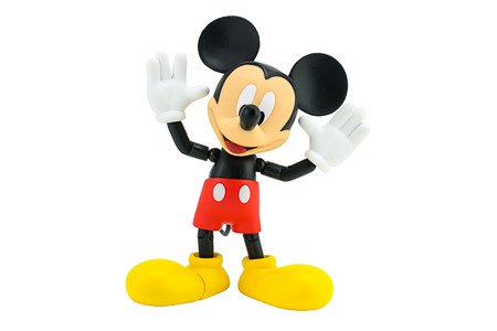 articulation: Bangkok,Thailand - January 5, 2015: Mickey  mouse action figure from Disney character. This character from Mickey mouse and friend animation series. Editorial
