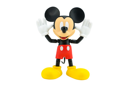 action figure: Bangkok,Thailand - January 5, 2015: Mickey  mouse action figure from Disney character. This character from Mickey mouse and friend animation series. Editorial