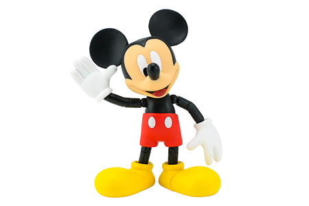 Bangkok,Thailand - January 5, 2015: Mickey  mouse action figure from Disney character. This character from Mickey mouse and friend animation series. 報道画像