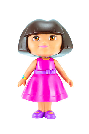 dora: Bangkok, Thailand - January 19, 2015 : Dora toy character from Dora the Explorer an American educational animated TV series.
