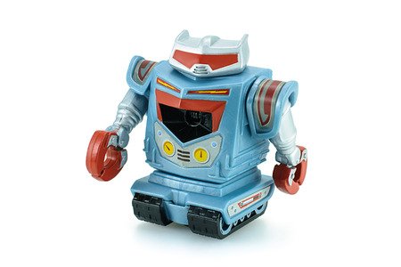 disney cartoon: Bangkok,Thailand - February 24, 2015: Sparks robot toy character from Toy Story animation movie produce by Disney Pixar studio.