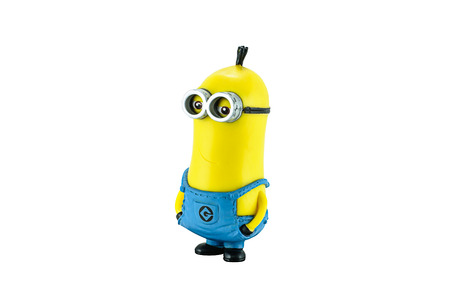 computer animation: Bangkok,Thailand - March 1, 2015: Minion tim figure toy character from Dispicable Me animation movie. Despicable Me is a comedy film from Universal Pictures and Illumination Entertainment.