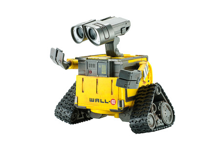 disney: Bangkok,Thailand - March 1 2015: WALL-E robot toy character form WALL-E animation film by Disney Pixar Studio.