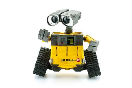 Bangkok,Thailand - March 1 2015: WALL-E robot toy character form WALL-E animation film by Disney Pixar Studio.