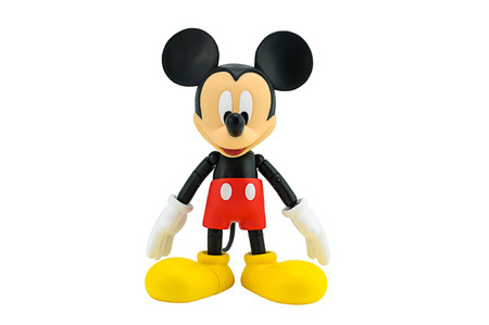 disney cartoon: Bangkok,Thailand - January 5, 2015: Mickey  mouse action figure from Disney character. This character from Mickey mouse and friend animation series. Editorial