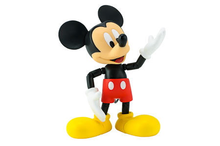 mickey: Bangkok,Thailand - January 5, 2015: Mickey  mouse action figure from Disney character. This character from Mickey mouse and friend animation series. Editorial