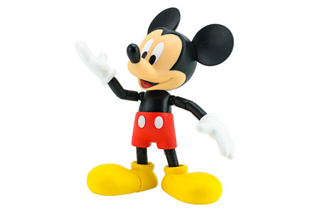 Bangkok,Thailand - January 5, 2015: Mickey  mouse action figure from Disney character. This character from Mickey mouse and friend animation series. Editorial