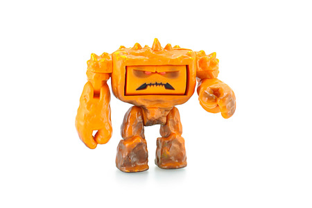 toy story: Bangkok, Thailand - April 30, 2015: Chunk  an orange muscular rock monster toy figure character form Toy Story animation film by Disney Pixar studio.