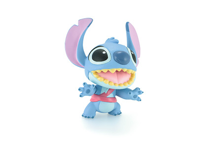 lilo: Bangkok, Thailand - Apirl 22, 2015: Stitch figure toy a fictional character in the Lilo & Stitch film series and television series. Editorial