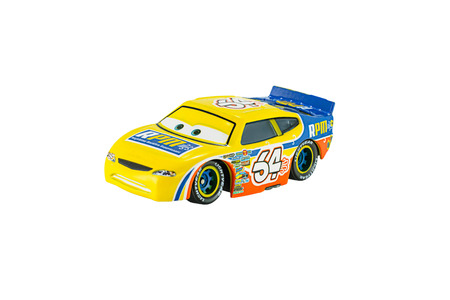 Bangkok, Thailand - May 13, 2015: Winford Bradford Rutherford race team rpm toy car a protagonist of the Disney Pixar feature film Cars. A diecast cars collection from Mattel inc.